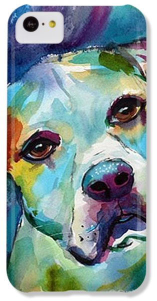 Watercolor American Bulldog Painting By IPhone 5c Case