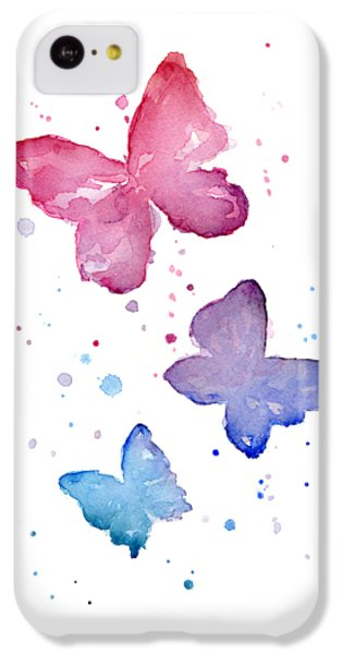 Watercolor Butterflies IPhone 5c Case