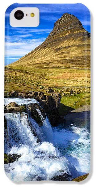 Amazing iPhone 5c Case - Waterfall In Iceland Kirkjufellfoss by Matthias Hauser
