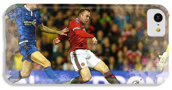 Wayne Rooney Of Manchester United Scores IPhone 5c Case by Don Kuing