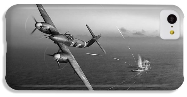 IPhone 5c Case featuring the photograph Westland Whirlwind Attacking E-boats Black And White Version by Gary Eason