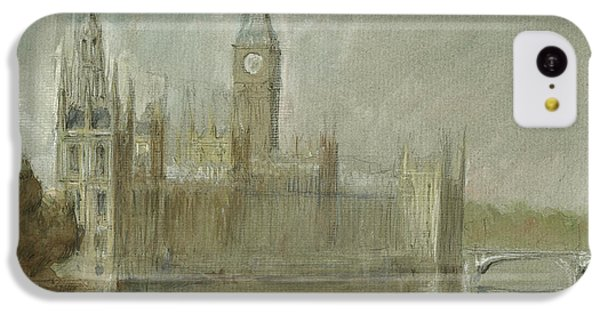Big Ben iPhone 5c Case - Westminster Palace And Big Ben London by Juan Bosco