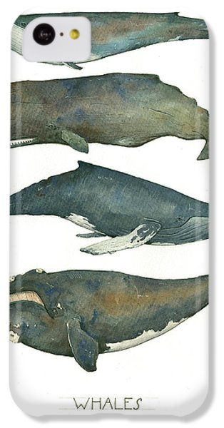 Whales Poster IPhone 5c Case by Juan Bosco