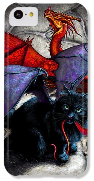 Dragon iPhone 5c Case - What The Catabat Dragged In by Stanley Morrison