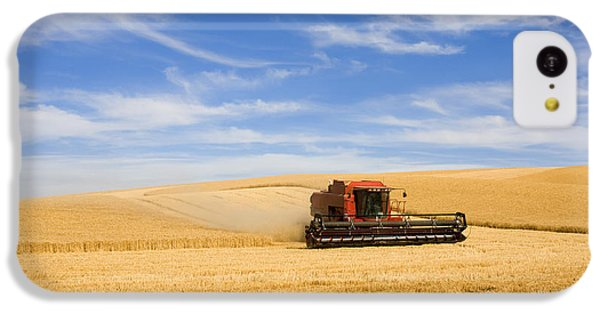 Rural Scenes iPhone 5c Case - Wheat Harvest by Mike  Dawson