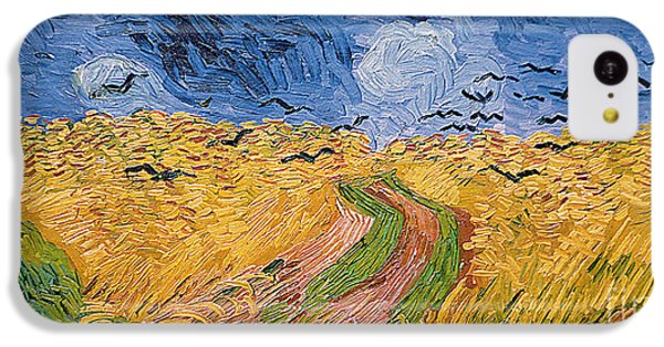 Wheatfield With Crows IPhone 5c Case by Vincent van Gogh