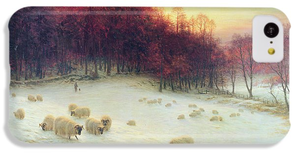 Sheep iPhone 5c Case - When The West With Evening Glows by Joseph Farquharson