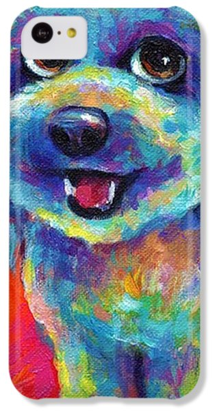 Whimsical Labradoodle Painting By IPhone 5c Case