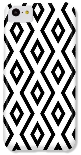 Beach iPhone 5c Case - White And Black Pattern by Christina Rollo
