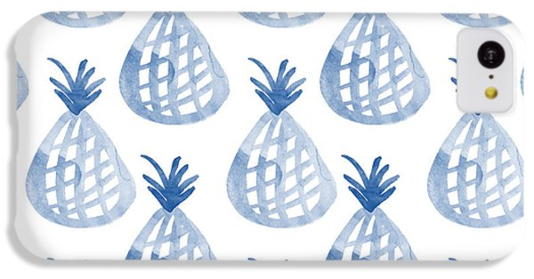 White And Blue Pineapple Party IPhone 5c Case