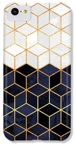 White And Navy Cubes IPhone 5c Case