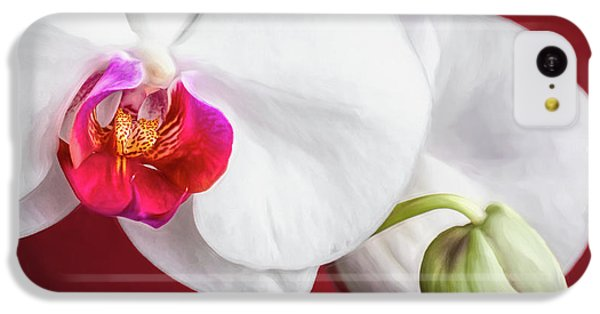Orchid iPhone 5c Case - White And Red Orchids by Tom Mc Nemar