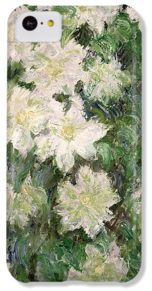White Clematis IPhone 5c Case by Claude Monet