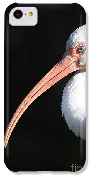 White Ibis Profile IPhone 5c Case by Carol Groenen