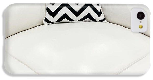 White Leather Sofa With Decorative Cushion IPhone 5c Case