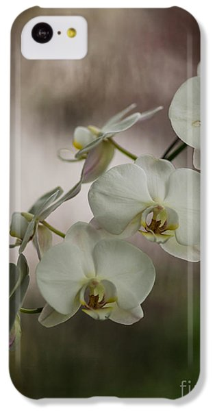 Orchid iPhone 5c Case - White Of The Evening by Mike Reid