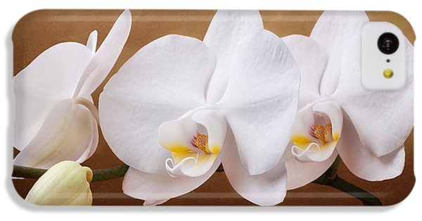 White Orchid Flowers And Bud IPhone 5c Case by Tom Mc Nemar