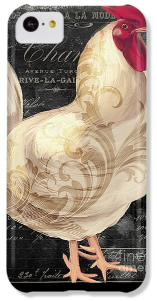 Rooster iPhone 5c Case - White Rooster Cafe I by Mindy Sommers