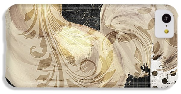 Rooster iPhone 5c Case - White Rooster Cafe II by Mindy Sommers