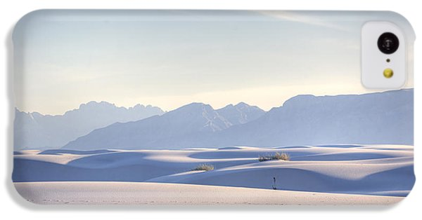 Desert iPhone 5c Case - White Sands Blue Sky by Peter Tellone