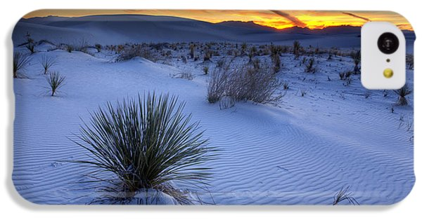 Desert iPhone 5c Case - White Sands Sunset by Peter Tellone