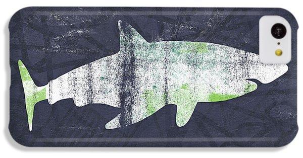 Hammerhead Shark iPhone 5c Case - White Shark- Art By Linda Woods by Linda Woods
