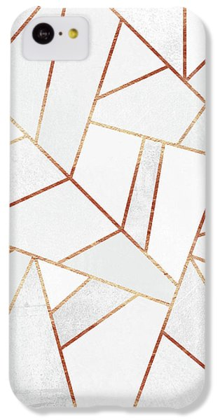White Stone And Copper Lines IPhone 5c Case by Elisabeth Fredriksson