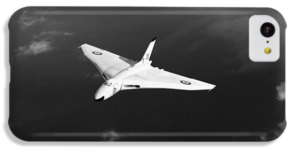 IPhone 5c Case featuring the digital art White Vulcan B1 At Altitude Black And White Version by Gary Eason