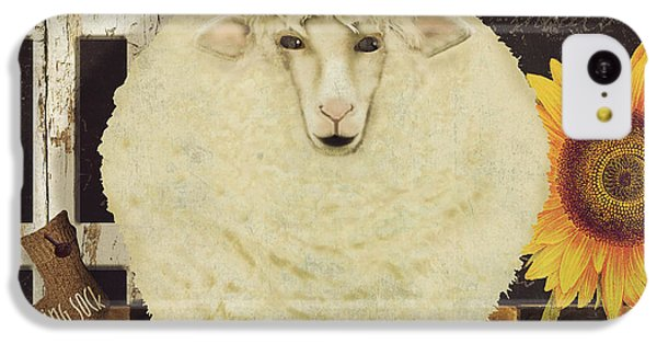 Sheep iPhone 5c Case - White Wool Farms by Mindy Sommers