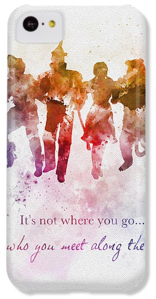 Wizard iPhone 5c Case - Who You Meet Along The Way by Rebecca Jenkins