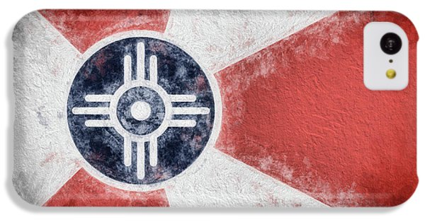 IPhone 5c Case featuring the digital art Wichita City Flag by JC Findley