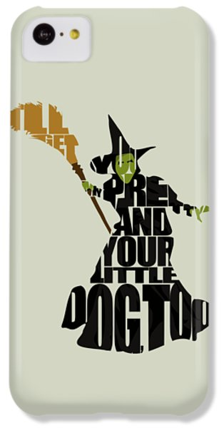 Wizard iPhone 5c Case - Wicked Witch Of The West by Inspirowl Design