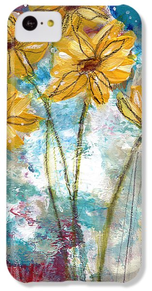 Sunflower iPhone 5c Case - Wild Sunflowers- Art By Linda Woods by Linda Woods