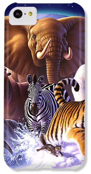 Wild World IPhone 5c Case by Jerry LoFaro