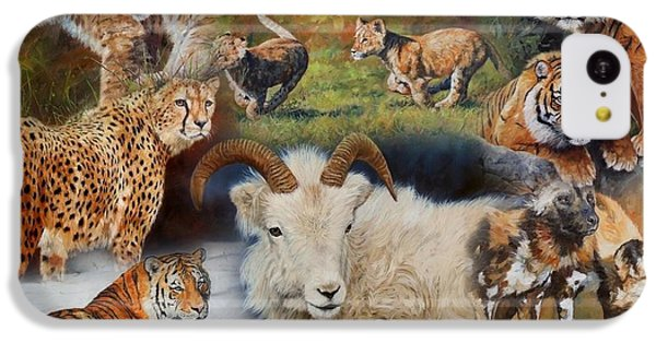 Wildlife Collage IPhone 5c Case
