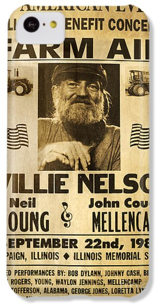 Willie Nelson Neil Young 1985 Farm Aid Poster IPhone 5c Case