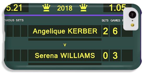 Wimbledon Scoreboard - Customizable - 2017 Muguruza IPhone 5c Case