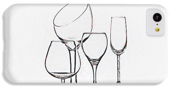 Wineglass Graphic IPhone 5c Case by Tom Mc Nemar