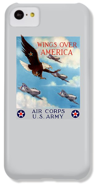 Eagle iPhone 5c Case - Wings Over America - Air Corps U.s. Army by War Is Hell Store