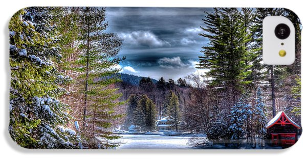 IPhone 5c Case featuring the photograph Winter At The Boathouse by David Patterson