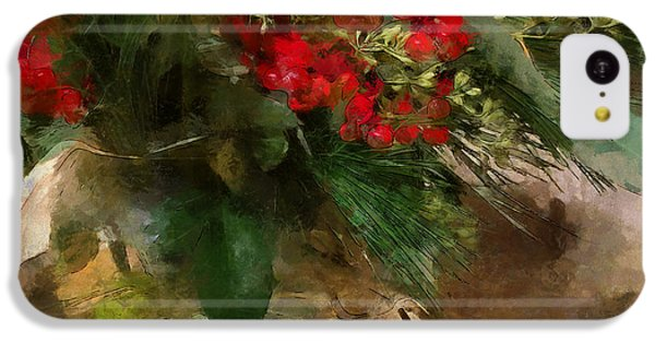 Winter Flowers In Glass Vase IPhone 5c Case