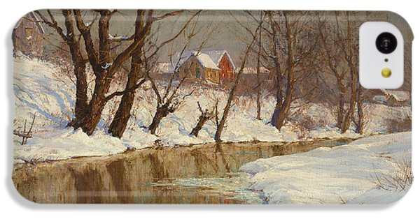 Rural Scenes iPhone 5c Case - Winter Morning by Walter Launt Palmer