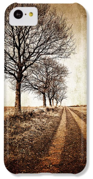 Rural Scenes iPhone 5c Case - Winter Track With Trees by Meirion Matthias