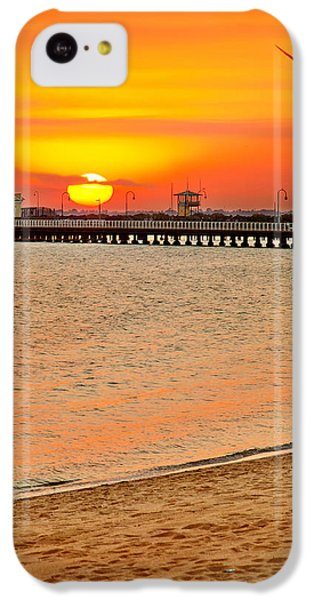 Beach Sunset iPhone 5c Case - Wish You Were Here by Az Jackson