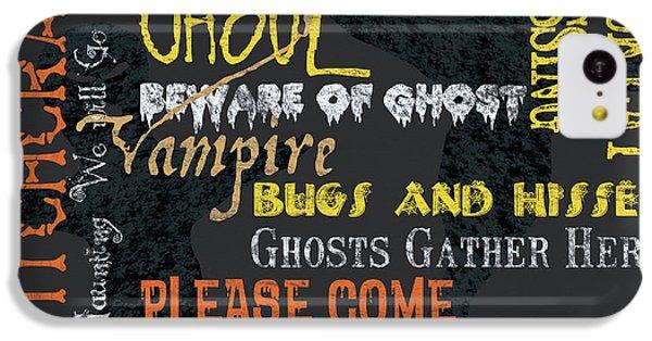 Bat iPhone 5c Case - Witchcraft Typography by Debbie DeWitt