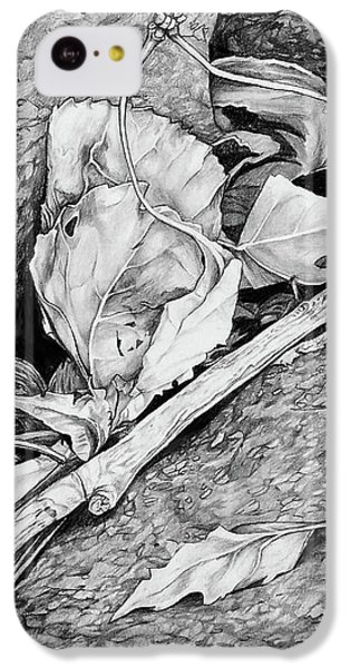 IPhone 5c Case featuring the drawing Withered Leaves by Aaron Spong
