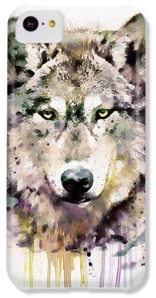 Wolves iPhone 5c Case - Wolf Head by Marian Voicu