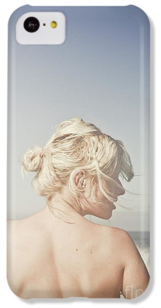 IPhone 5c Case featuring the photograph Woman Relaxing On The Beach by Jorgo Photography - Wall Art Gallery