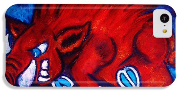 Woo Pig IPhone 5c Case by Laura  Grisham