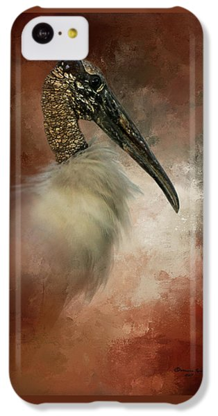 Stork iPhone 5c Case - Wood Portrait  by Marvin Spates